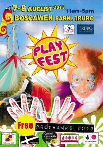 Mark's Ark Portfolio Play Fest at Boscawen Park, Truro